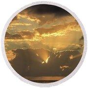Sun's Rays Round Beach Towel by David Buhler