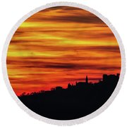 Sunset 11 Round Beach Towel