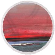 Sunset 12 Round Beach Towel