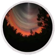 Sunset 3 Round Beach Towel