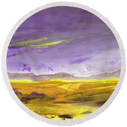 Sunset 30 Round Beach Towel