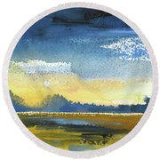 Sunset 31 Round Beach Towel
