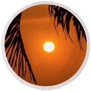 Sunset 35 Round Beach Towel