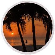 Sunset 36 Round Beach Towel