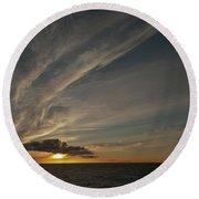 Sunset - 38 Round Beach Towel