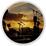 Sunset - 39 Round Beach Towel
