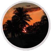 Sunset - 46 Round Beach Towel