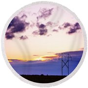 Sunset #7 Round Beach Towel