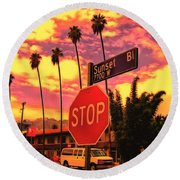 Sunset 7700w Round Beach Towel