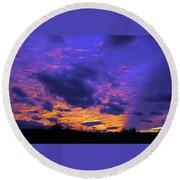 Sunset After Storm Round Beach Towel