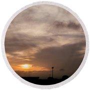 Sunset Ahuachapan 11 Round Beach Towel