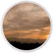 Sunset Ahuachapan 12 Round Beach Towel