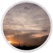 Sunset Ahuachapan 14 Round Beach Towel