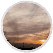 Sunset Ahuachapan 7 Round Beach Towel