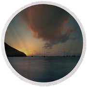 Sunset Almost Perfect Round Beach Towel