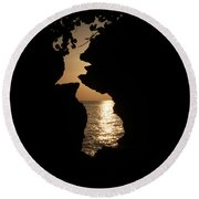 Sunset And Passion Round Beach Towel
