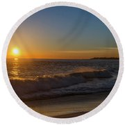 Sunset And The Sea - Cape May New Jersey Round Beach Towel