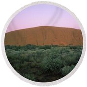 Sunset At Ayre's Rock Round Beach Towel