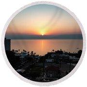 Sunset At Galilee Round Beach Towel
