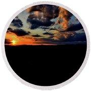 Sunset At Glassy Round Beach Towel
