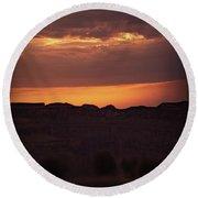 Sunset At Grand Canyon Round Beach Towel