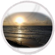 Sunset At Jaffa Beach T-shirt Round Beach Towel