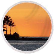 Sunset At Key West Round Beach Towel