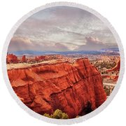 Sunset At Kodachrome Basin State Park Panorama Round Beach Towel