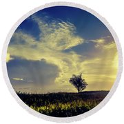 Sunset At Kuru Kuru Round Beach Towel