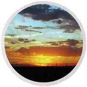 Sunset At Little River Victoria Round Beach Towel