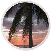Sunset At Montego Bay Round Beach Towel