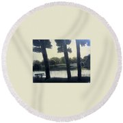 Sunset At Rochester Round Beach Towel