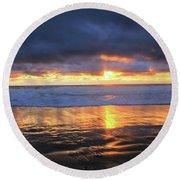 Sunset At Salt Creek Round Beach Towel