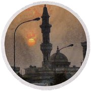 Sunset At Seeb Round Beach Towel