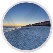 Sunset At The Beach In Florida Round Beach Towel