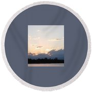 Sunset At The Lake3 Round Beach Towel