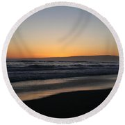 Sunset Beach California Round Beach Towel