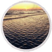 Sunset Beach In Florida Paradise Round Beach Towel