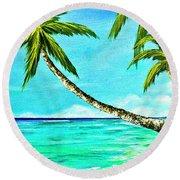 Sunset Beach#370  Round Beach Towel