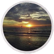 Sunset Beauty At Clearwater Round Beach Towel