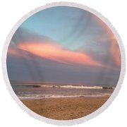Sunset Beauty Round Beach Towel