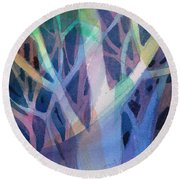 Sunset Branches Round Beach Towel by Carolyn Utigard Thomas