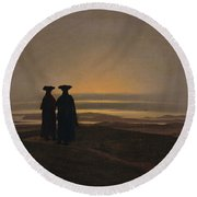 Sunset Brothers Round Beach Towel