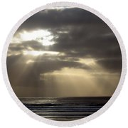 Sunset By The Sea Photograph Round Beach Towel