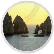 Sunset Cabo 4 Round Beach Towel