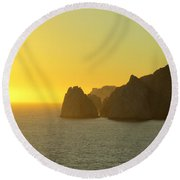 Sunset Cabo 6 Round Beach Towel
