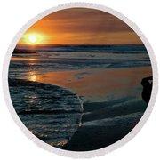 Sunset Capture Round Beach Towel