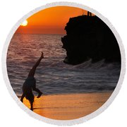 Sunset Cartwheel Round Beach Towel