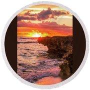 Sunset Cliff Round Beach Towel