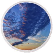Sunset Cloud Formation Round Beach Towel